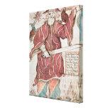 Odin, con sus dos cuervos, Hugin y Munin Impresión En Lienzo Estirada