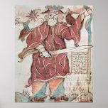 Odin, con sus dos cuervos, Hugin y Munin Posters