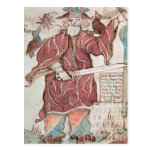 Odin, con sus dos cuervos, Hugin y Munin Tarjeta Postal