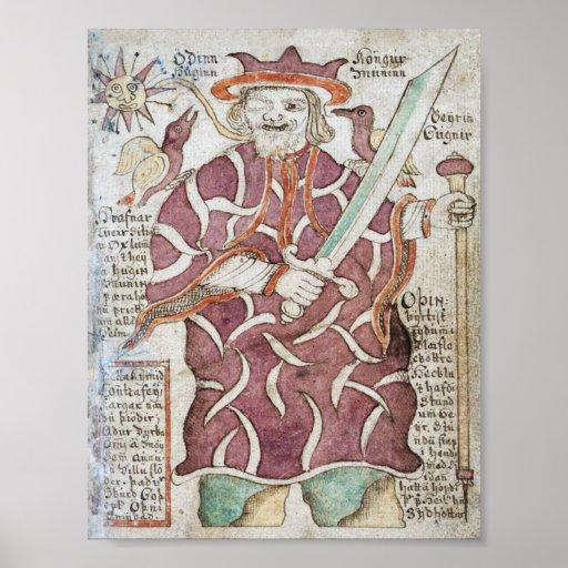 Odin, el Allfather del Aesir. Póster