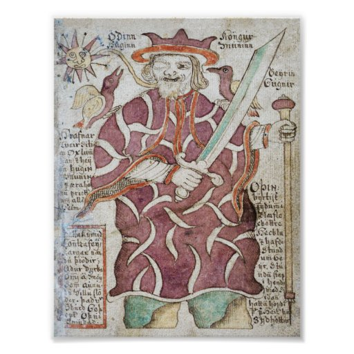 Odin, el Allfather del Aesir. Poster