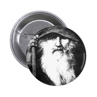 Odin el vagabundo pin redondo de 2 pulgadas