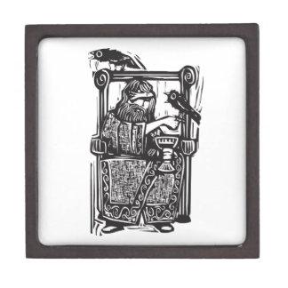 Odin en el trono cajas de joyas de calidad