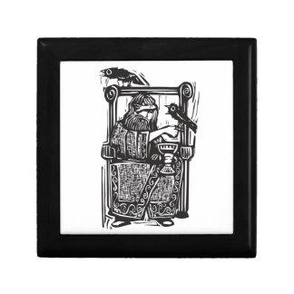 Odin en el trono cajas de recuerdo