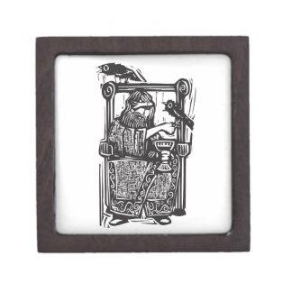 Odin en el trono cajas de regalo de calidad