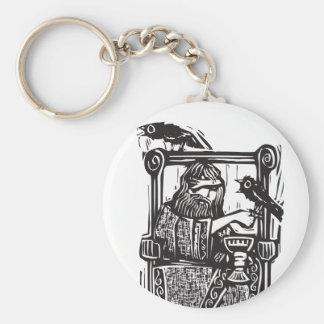 Odin en el trono llaveros