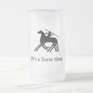 Odin, es una cosa de los nórdises jarra de cerveza esmerilada