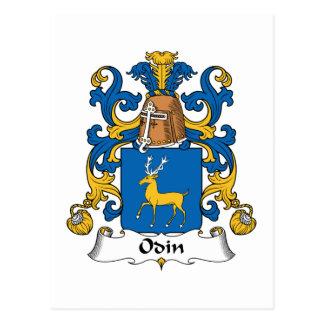 Odin Family Crest Postcard