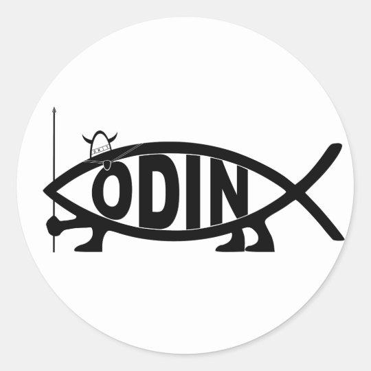 Odin Fish Classic Round Sticker