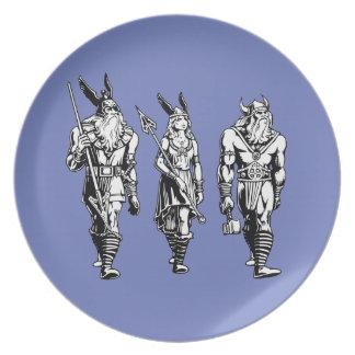 Odin, Freyja & Thor Dinner Plate