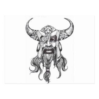 Odin gran dios de los nórdises postal