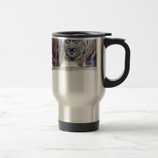 Odin in front of Mimir Travel Mug