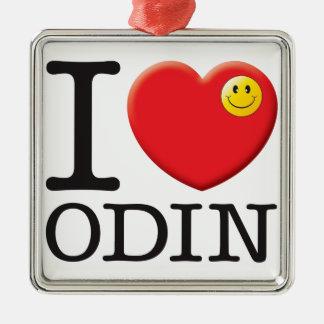 Odin Love Silver-Colored Square Decoration