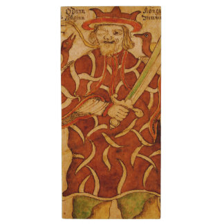 Odin of Norse Mythology - USB Thumb Drive Wood USB 2.0 Flash Drive