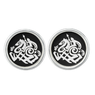 Odin on Sleipnir Cufflinks