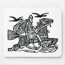 Odin on Sleipnir Mouse Pad