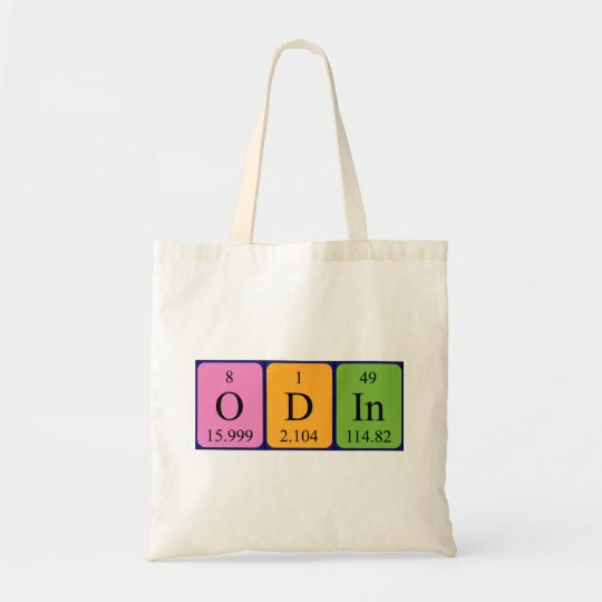 Odin periodic table name tote bag