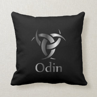 Odin- The graphic is a symbol of the horns of Odin Throw Pillow