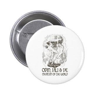 Odin Vili and Ve Pinback Buttons
