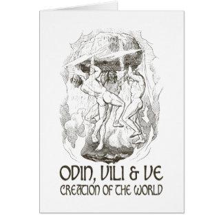 Odin, Vili y VE Tarjeta De Felicitación