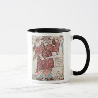 Odin, with his two crows, Hugin  and Munin Mug