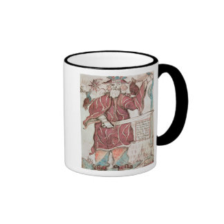 Odin, with his two crows, Hugin  and Munin Ringer Coffee Mug