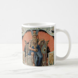 Odin with Huginn and Muninn Mug
