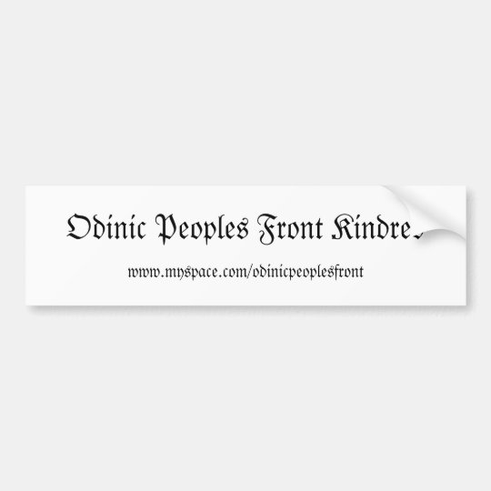 Odinic Peoples Front Kindred bumper sticker