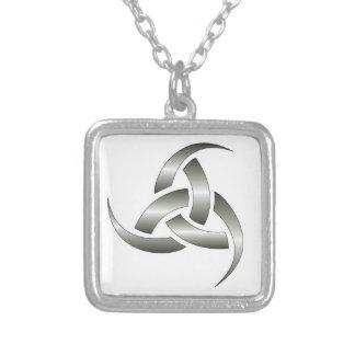 Odin's Horn Religion Square Pendant Necklace