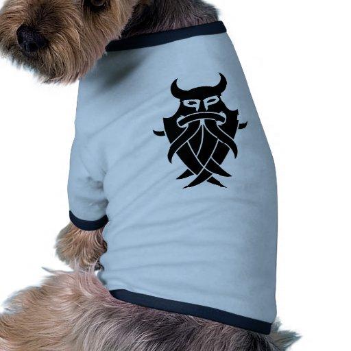 Odin's Mask Tribal (black) Doggie T Shirt