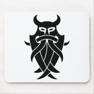 Odin's Mask Tribal (black) Mouse Pad