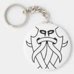 Odin's Mask Tribal (black outlined) Key Chain