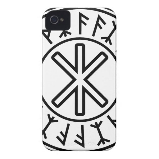 Odin's Protection No.2 (black) Case-Mate iPhone 4 Cases