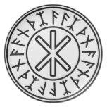 Odin's Protection No.2 (black) Dinner Plate