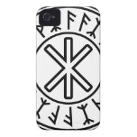 Odin's Protection No.2 (black) iPhone 4 Cover