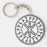 Odin's Protection No.2 (black) Basic Round Button Keychain