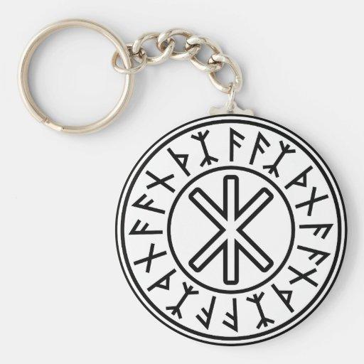 Odin's Protection No.2 (black) Key Chains