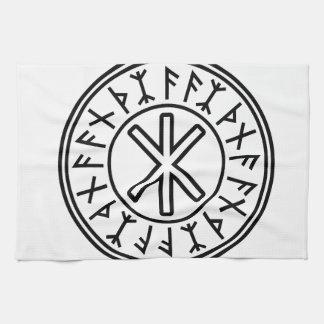 Odin's Protection No.2 (black) Kitchen Towels
