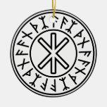 Odin's Protection No.2 (black) Ornament