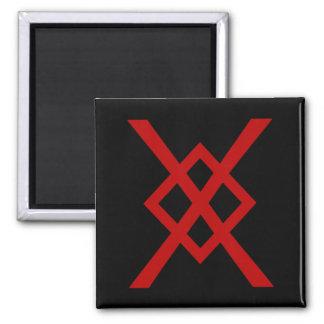 Odin's Spear, Gungnir (red & black) 2 Inch Square Magnet
