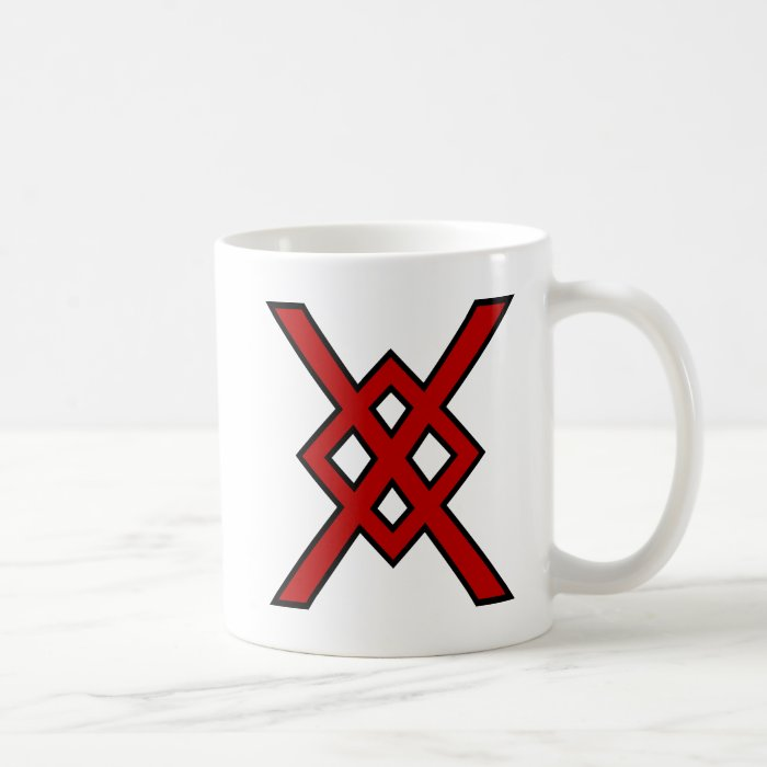 Odin's Spear (red & black) Coffee Mug