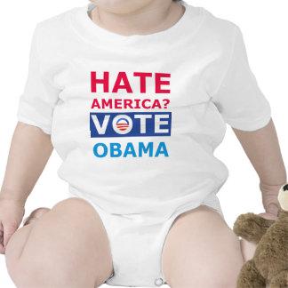 ¿Odio América? Voto Obama (Obama anti) Trajes De Bebé