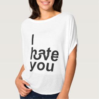 Odio/amor usted camisas