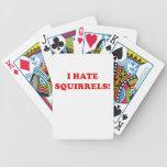 Odio ardillas baraja de cartas