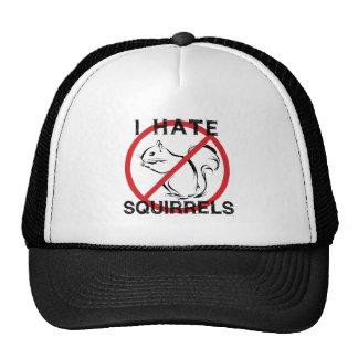 Odio ardillas gorras