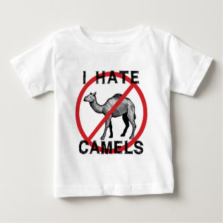 Odio camellos playera de bebé