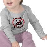 Odio cangrejos camiseta