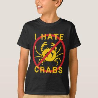 Odio cangrejos playera