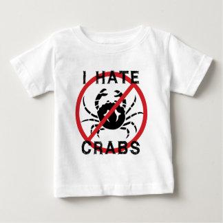 Odio cangrejos playera de bebé