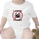 Odio cangrejos trajes de bebé